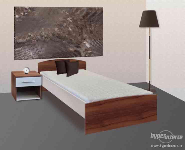 Nová jednolůžková postel 90x200 vč. roštu. Zadarmo matrace