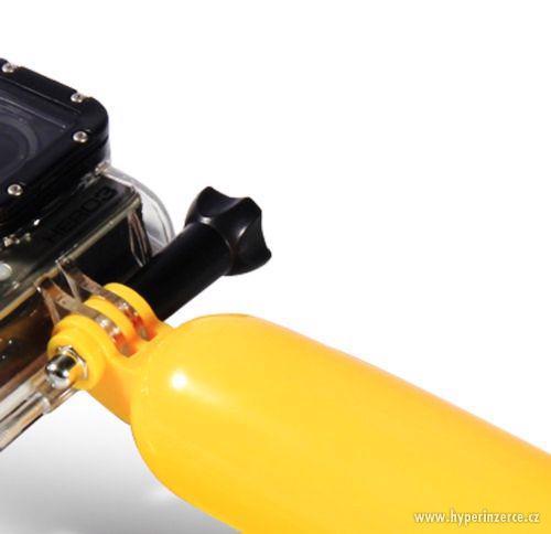 Žlutý plovák bobber pro GoPro a SJ400 - foto 3