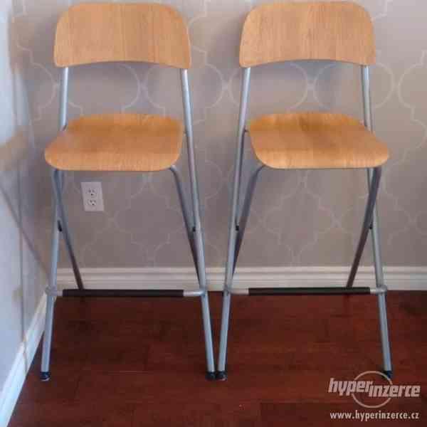 Barová židle s opěrkou Franklin (IKEA)
