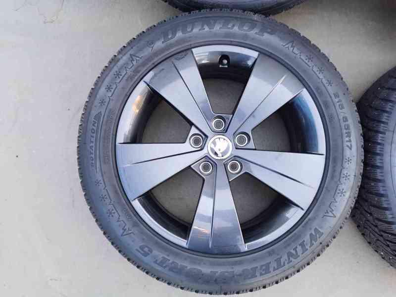 215/55R17 zimní pneu škoda superb III 6,5x17 5x112x57 ET41 - foto 6