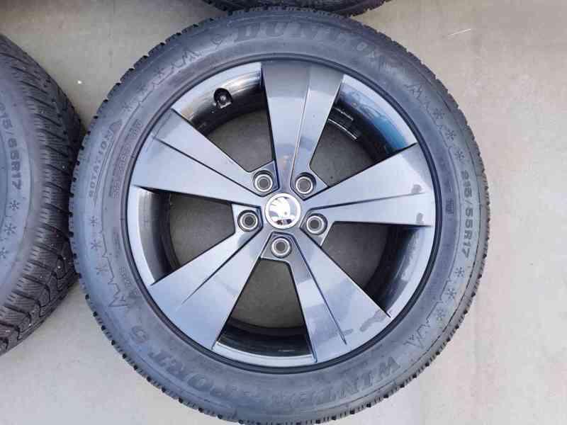 215/55R17 zimní pneu škoda superb III 6,5x17 5x112x57 ET41 - foto 5