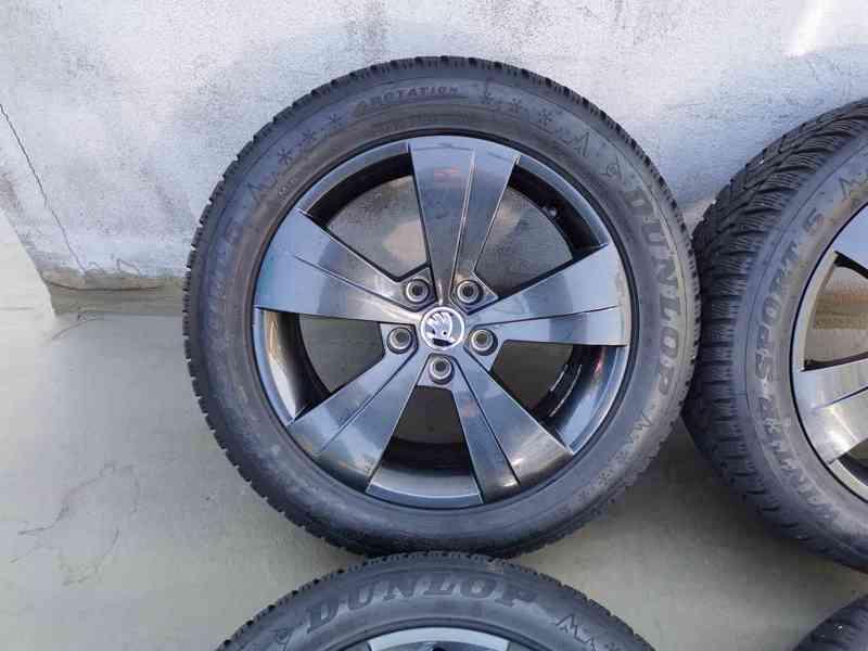215/55R17 zimní pneu škoda superb III 6,5x17 5x112x57 ET41 - foto 3