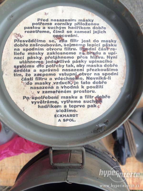 Prodám staré plynové Československémasky 1938-39 - foto 4