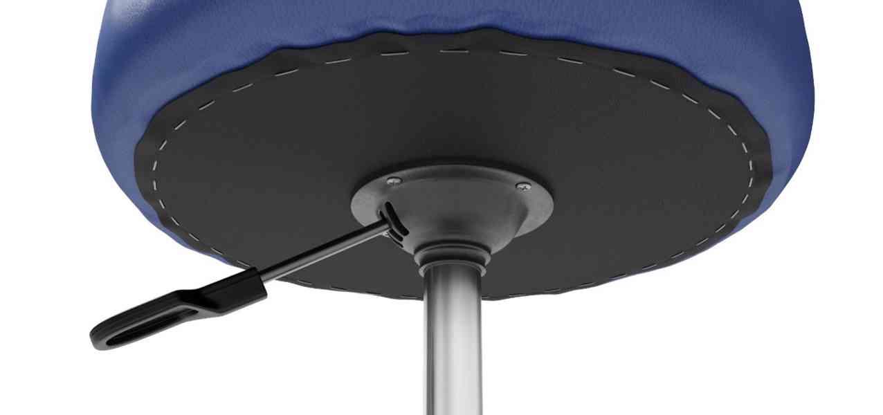 Výškově nastavitelná sedačka modrá nepoužitá - foto 2