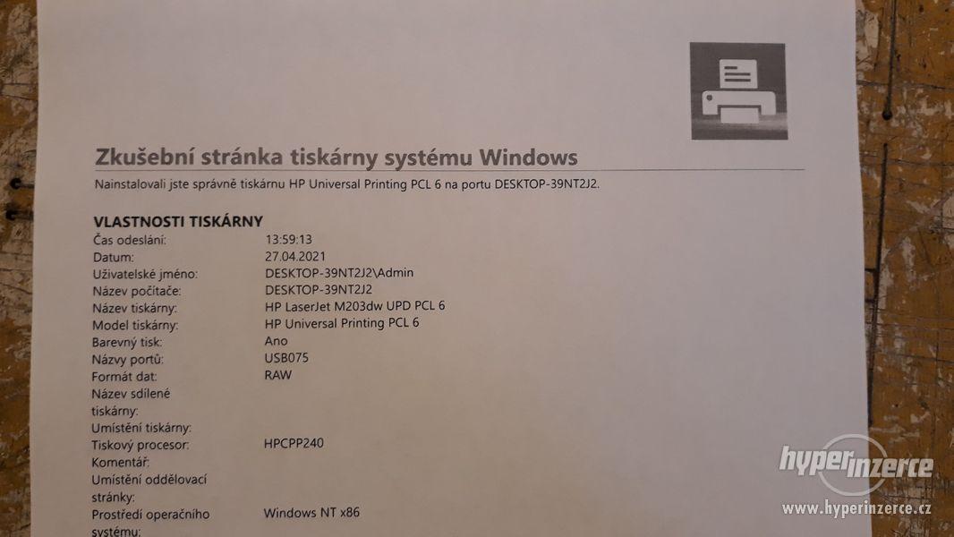 HP Laserjet M203DW | Duplex | WiFi | válec + toner 100%  - foto 2