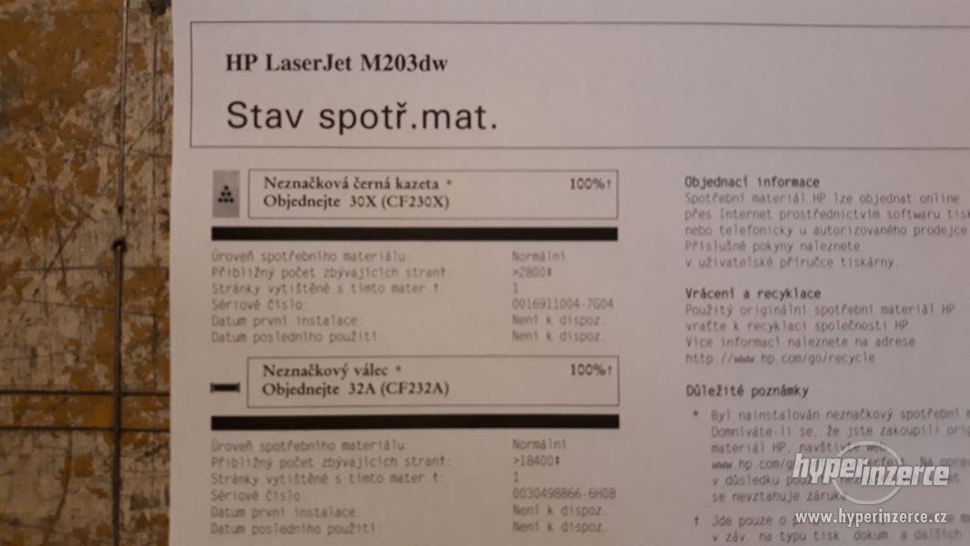 HP Laserjet M203DW | Duplex | WiFi | válec + toner 100%  - foto 4