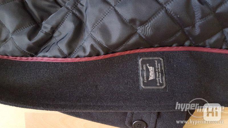 Panský černý kabát velikost 58- NOVÝ - foto 4