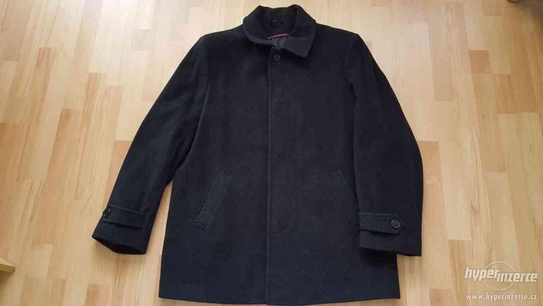 Panský černý kabát velikost 58-NOVÝ