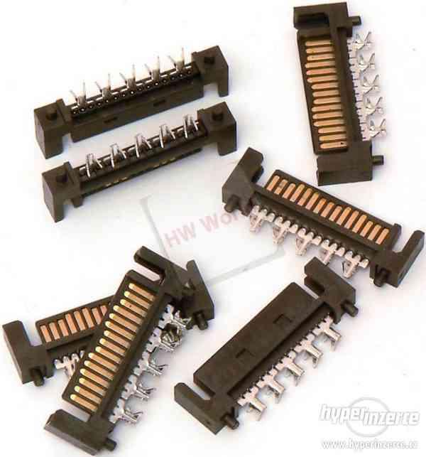UNIKÁT napájecí SATA konektory (15p), pájecí samice na kabel