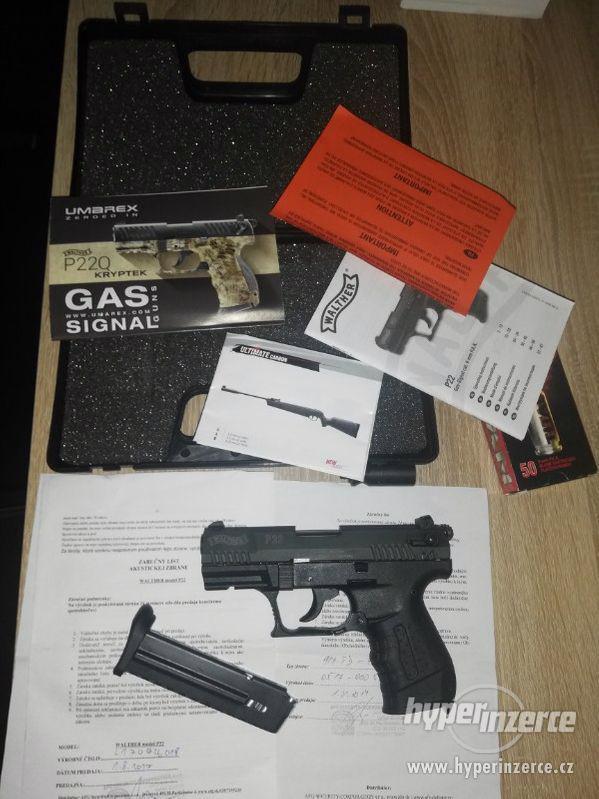 PLYNOVÁ PISTOLE WALTHER P22 BLACK