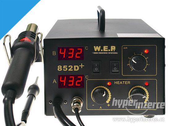 Pájecí stanice WEP 852D+ ,2v1, s 2 displejami