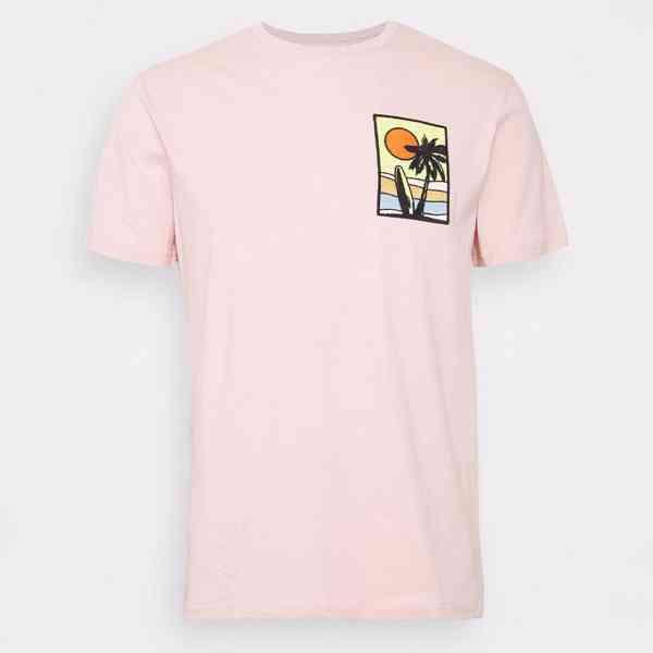 Pier One - Pánské růžové tričko s palmou Velikost: M - foto 6