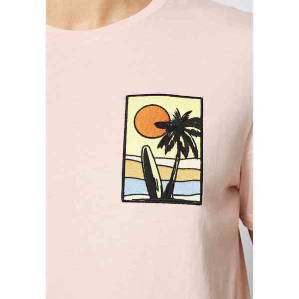 Pier One - Pánské růžové tričko s palmou Velikost: M - foto 7