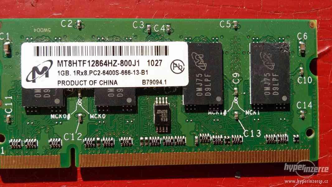 Paměť do notebooku DDR2 1GB - foto 1