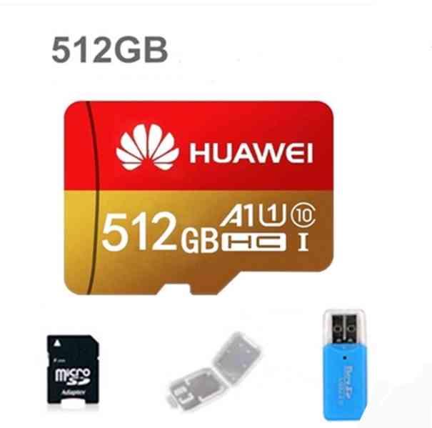 Paměťové karty micro SDXC 512 GB + adaptéry