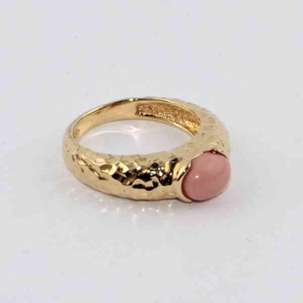 Bijoux Eloise - Zlatý rustikální prsten / prstýnek s ovální