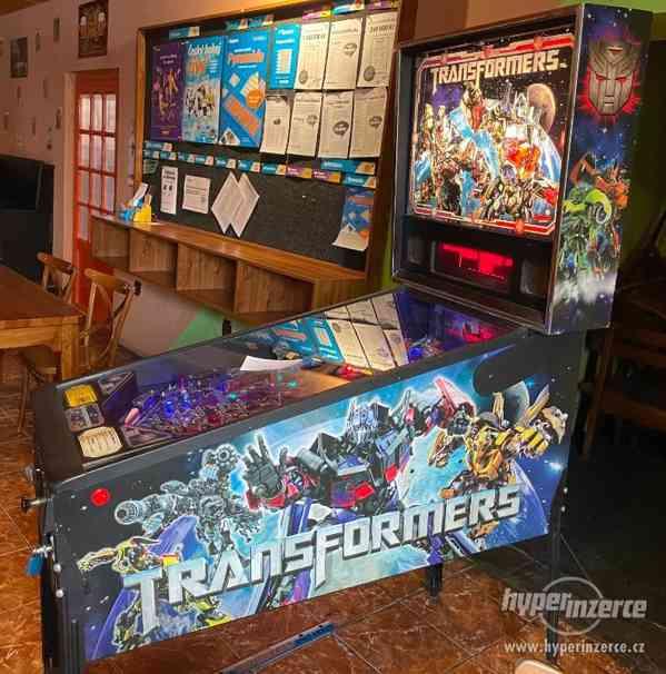 Flipper Transformers, pinball, stern, arcade, retro