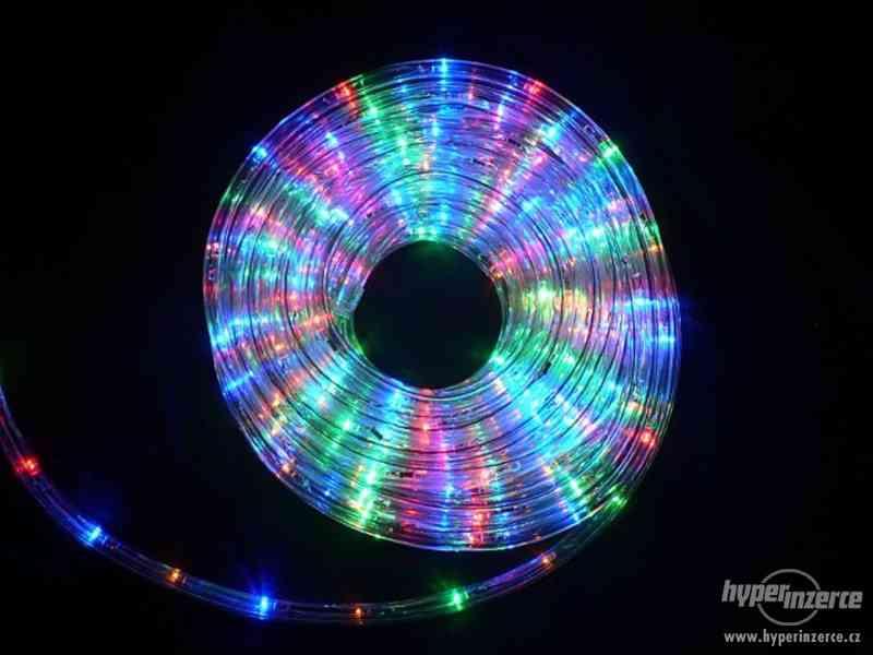 Světelný nejen vánoční had barevný 20 metrů. REÁLNÉ FOTO ,TO - foto 2