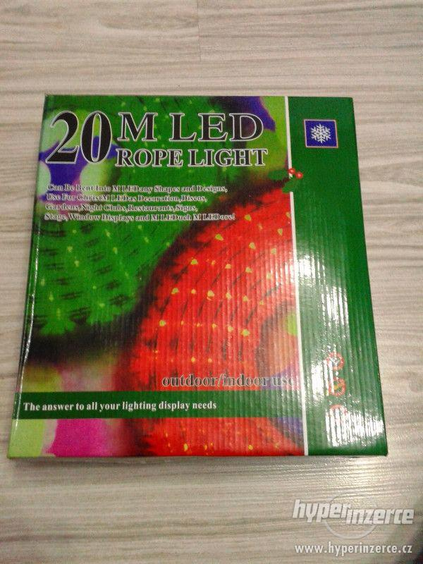 Světelný nejen vánoční had barevný 20 metrů. REÁLNÉ FOTO ,TO - foto 7