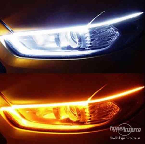 LED DRL 12V 24V denní svícení a funkce blinkru 60cm
