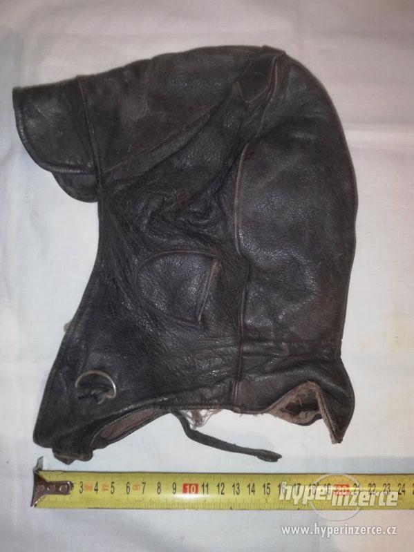 Kožená čepice k veteránu - foto 1