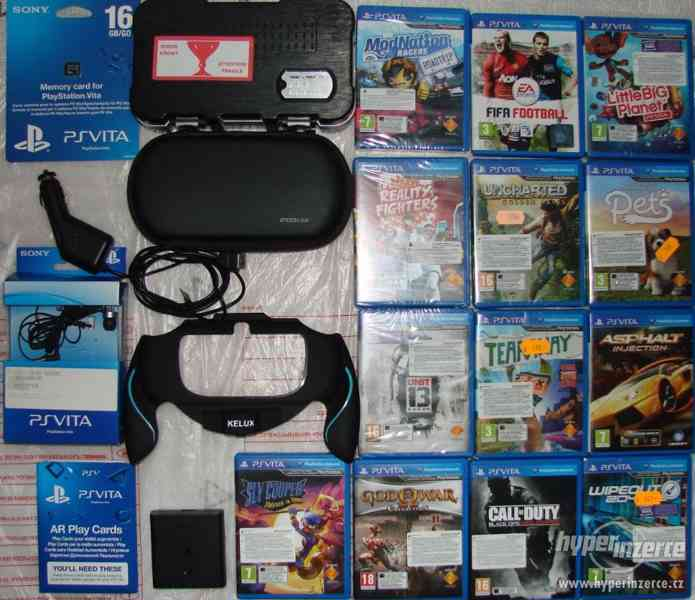 PSP Vita hry, karta, nabíječka PSV - Playstation vita Brno