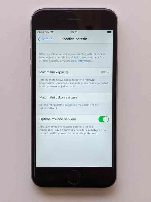 iPhone 6s 32GB šedý, baterie 99% záruka 6 měsícu - foto 4