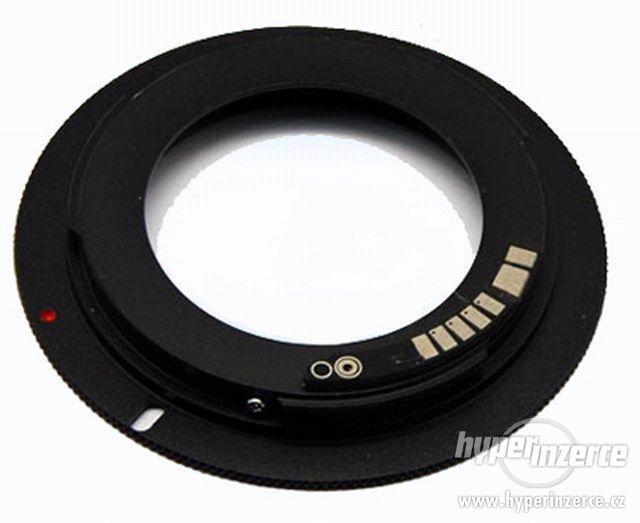 Kvalitní Redukce Adapter Pro Canon EOS M42 s čipem, krytkou