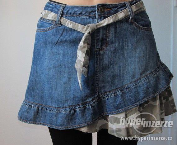 Riflová sukně