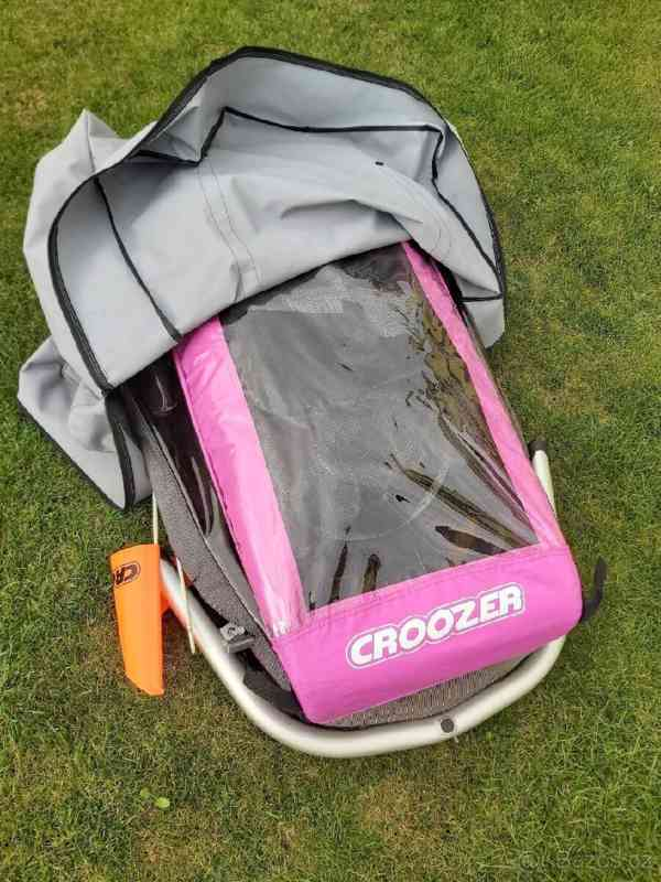 Cyklovozík Croozer Kid for 1 - růžový - foto 5