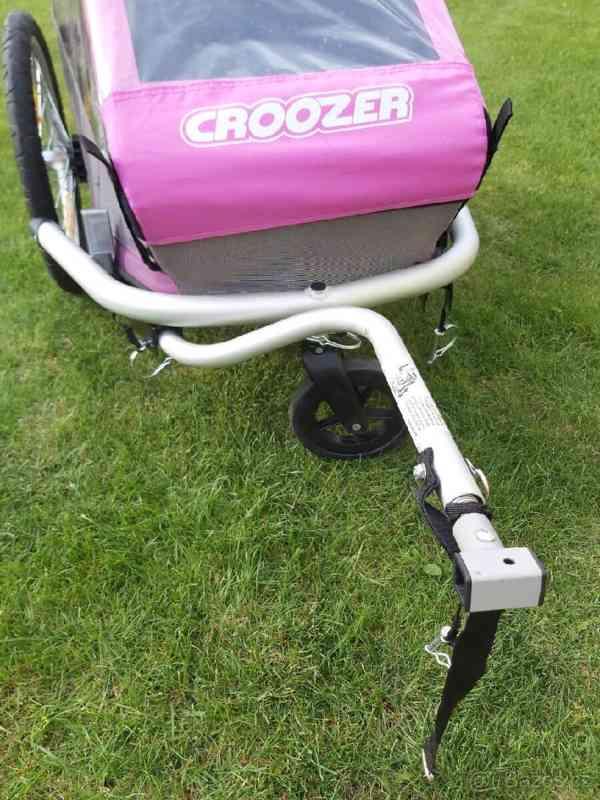 Cyklovozík Croozer Kid for 1 - růžový - foto 2