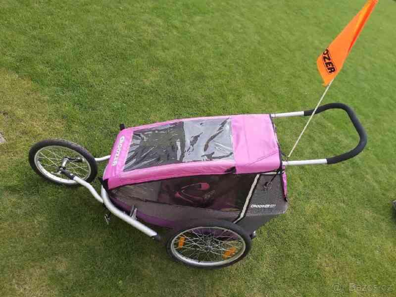 Cyklovozík Croozer Kid for 1 - růžový - foto 1