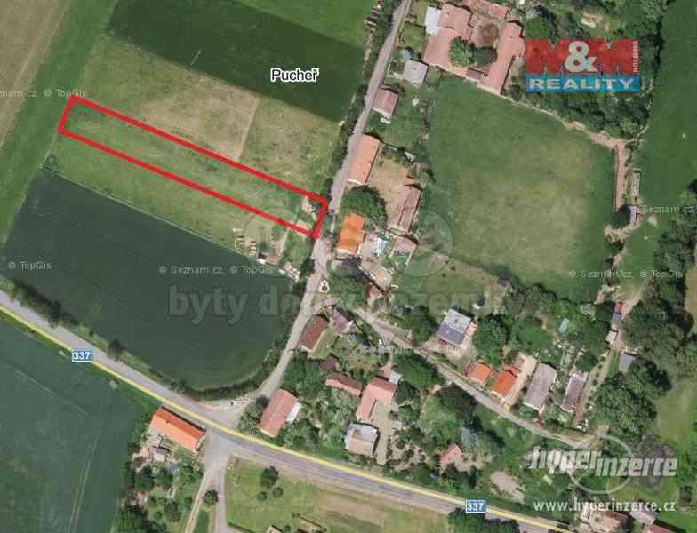 Prodej pozemku k bydlení, Kluky - místní část Pucheř