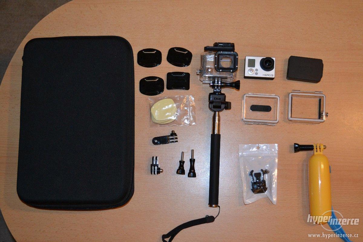 Prodám GoPro Hero 3 Silver plus příslušenství - foto 1
