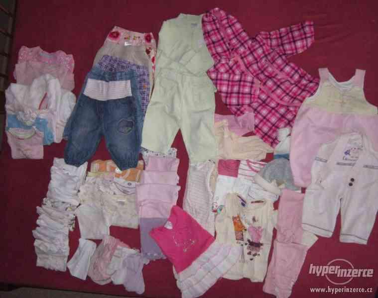 Oblečení pro holčičku Balík 3  3-6m  (vel. 68-74)