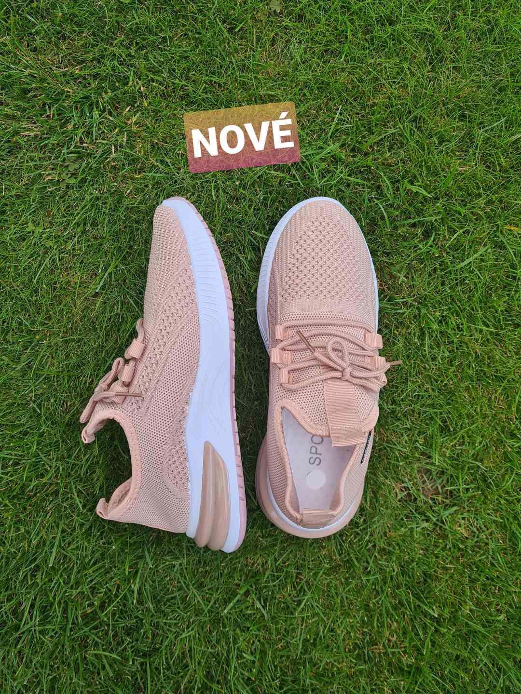 Krásné nové růžové tenisky sneakers vel. 36-41 - foto 1