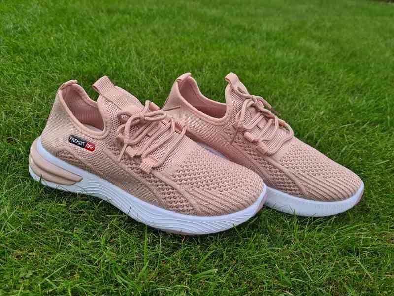 Krásné nové růžové tenisky sneakers vel. 36-41 - foto 3