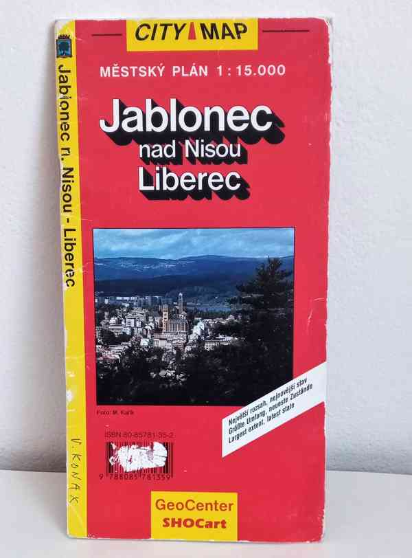 Mapa Liberce a Jablonce nad Nisou,  - foto 2