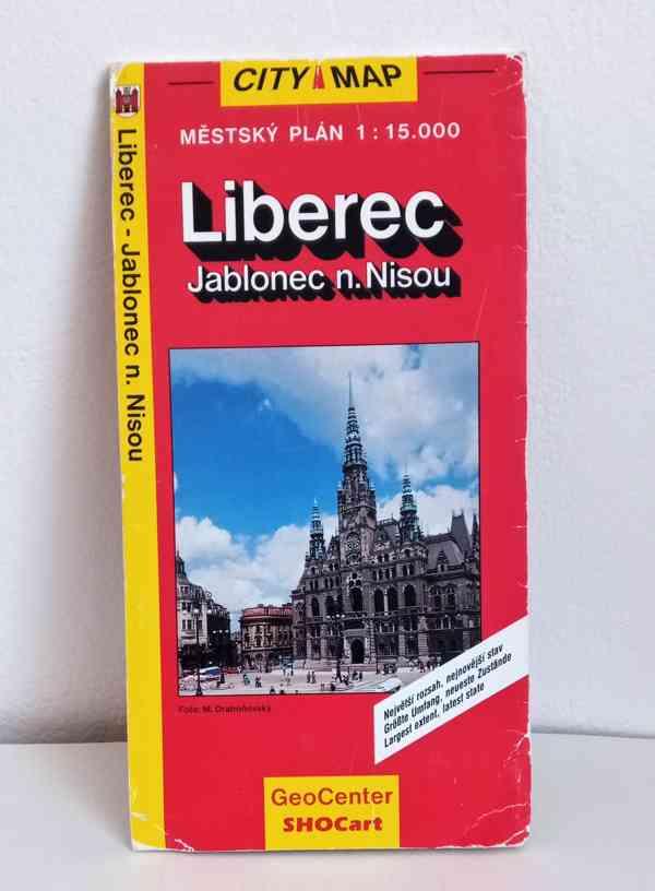 Mapa Liberce a Jablonce nad Nisou,  - foto 1