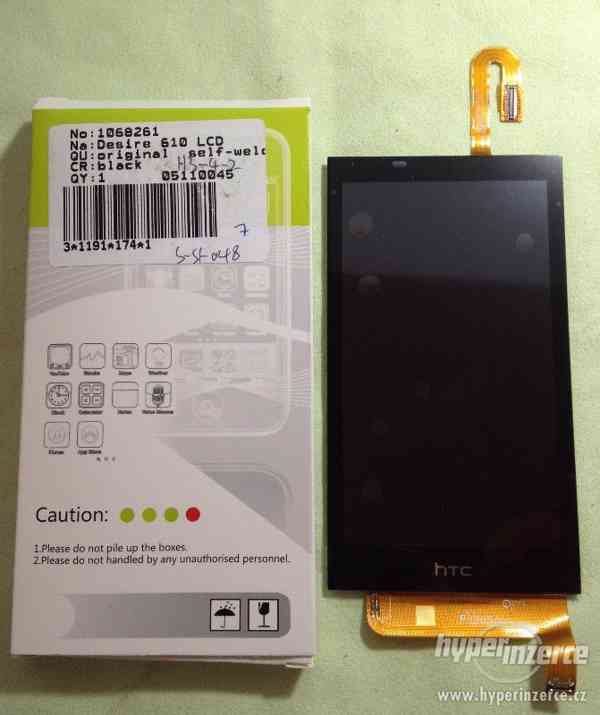 HTC Desire 610 LCD displej + Dotykové sklo - foto 1