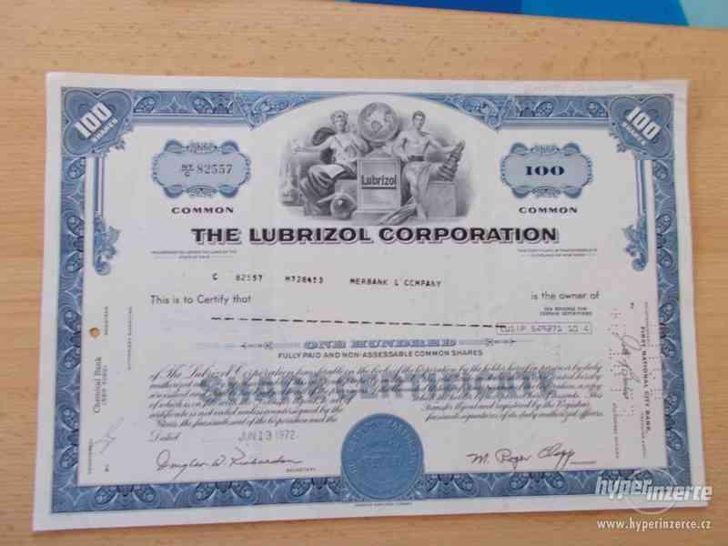 THE LUBRIZOL CORPORATION - staré akcie USA