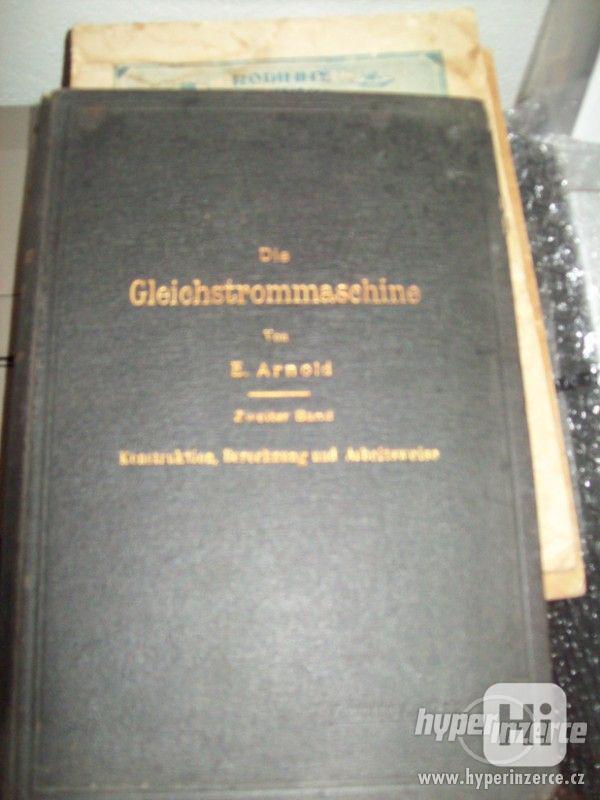 Prodám historické technické knihy v němčině.