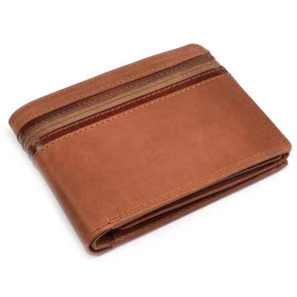 Pánská hnědá kožená peněženka - foto 2