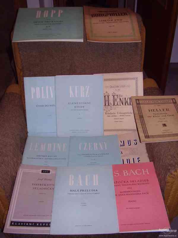 Zachovalé notové sešity hry na klavír - vydání 1894-1950