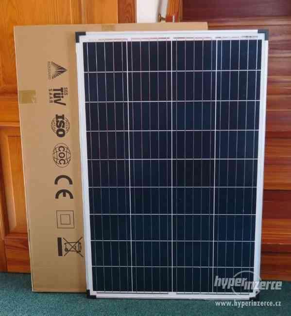 Solární panel fotovoltaický 100W/ 12V polykrystal, přísluš. - foto 1
