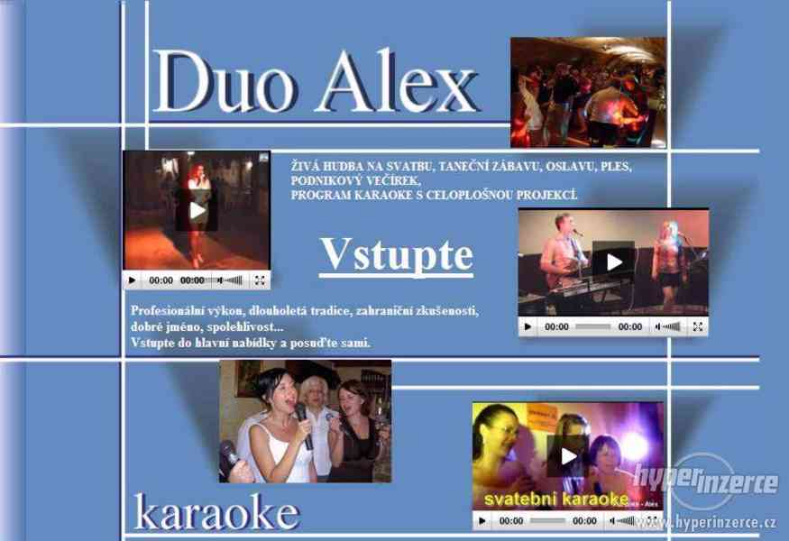 Živá hudba na ples svatbu oslavu - Duo Alex - foto 1