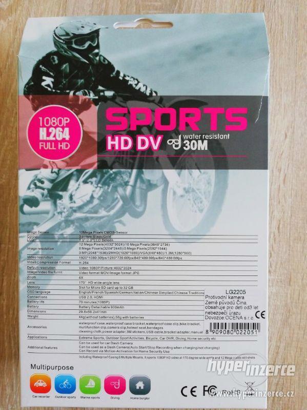 Vodotěsná sportovní kamera - foto 3