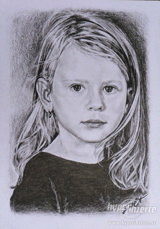 Portréty podle fotografie, kresby Vašich mazlíčků