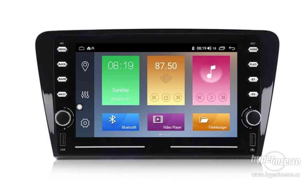 Škoda Octavia 3 Autorádio Android s GPS navigací a WiFi