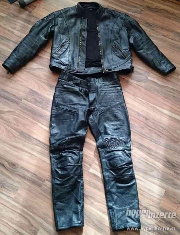 Motorkářská kožená bunda a kalhoty EuroCycles - foto 2